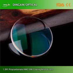 Poli 1,59 terminou uma visão única de lentes de óculos anti-reflexo