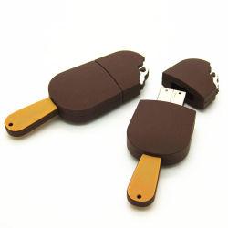 아이스크림 푸드 USB 플래시 드라이브 4G 8G USB 스틱 쿠스토화된 로고에 적합한 펜드라이브 메모리 스틱