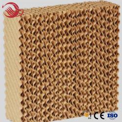 Mit hoher Schreibdichte Bienenwabe-Papier-kundenspezifisches Wasserkühlung-Klimaanlagen-Wasser-abkühlende Papierauflage
