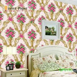 Alta qualidade de PVC impermeável Classis mural de Flores Decoração papéis de parede para decoração do restaurante