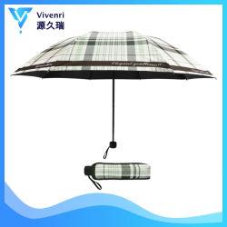 Alta Qualidade 3 forte chuva dobrável Guarda-sol e rebatimento manual Umbrella com a lâmpada UV