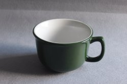 Tasse en céramique bon marché en grès de la soupe avec poignée