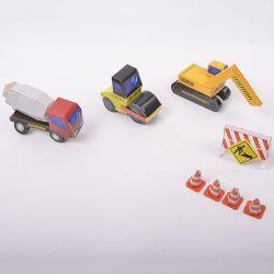 Personalizzato costruendo i capretti DIY dei veicoli gioca Origami di carta per i capretti