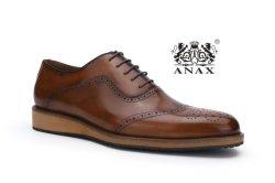 Новый дизайн и высокое качество популярных мужчин на шнуровке кожаные бизнес удобные повседневная обувь