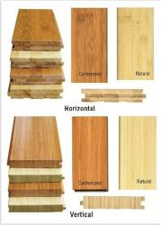 Hot Sale naturelle de grande qualité carboniser brin vertical horizontal le sol en bambou tissées