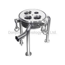 Micropre 스테인리스 강 물 위생 필터(샘플 밸브 포함