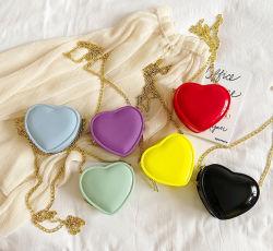 La borsa delle ragazze poca signora sveglia Bright Color Bags Little delle borse della borsa piccola insacca le borse per la borsa di figura del cuore dei capretti
