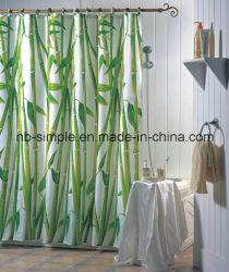 O bambu chuveiro cortina de bambu de poliéster