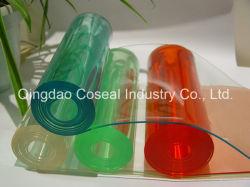 Cortina de tiras de PVC colorido/Transparente Hoja de PVC blando