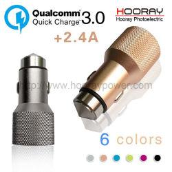 La carga rápida de CA eléctrico inteligente12-24V Dual USB Cargador coche USB teléfono celular con Qualcomm 3.0