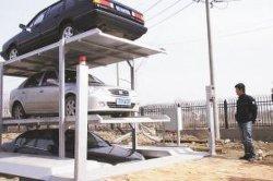 1 Espacio para los coches de 3Sistema de estacionamiento enterrada