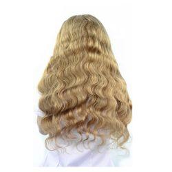 Angelbella rubia natural Cabello pelucas de encaje completo 100% de la Unión cabello trenzado pelucas pelucas Venta al por mayor para las mujeres negras