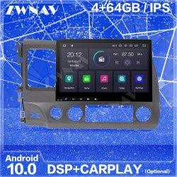 Androïde GPS van de Speler van 10 Auto DVD Video Radio StereoNavigatie voor van de Auto van Honda Civic 2006-2012 de Stereo HoofdEenheid Van verschillende media DSP van de Speler