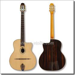 Gewölbte oberste linke Handzigeunerjazz-Gitarre (AGJ600)