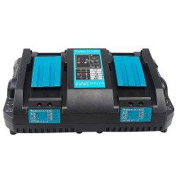 18V carregador da bateria DC18rd portas duplas de substituição rápida Carregue 4A 120W para Makita Bateria de íon de lítio Bl1415 Bl1430 Bl1830 Bl1840