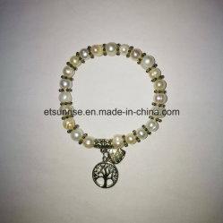 Semi браслет естественной кристаллический перлы драгоценного камня Beaded