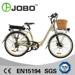 Belle ville vélo électrique avec le rotin Panier (JB-TDF11Z)