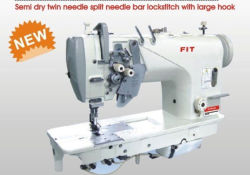 Semi Oil Double Needle Split Needle Bar Lockstuch 재봉틀기 표준 후크 Fit8450 포함