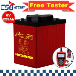 Csbattery 6volt 225ah Motive Power VRLA Deep Cycle Gel Battery 레저 차량/골프 카트/해상/보트/태양열 저장 시스템/부용