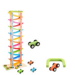 16 het Stuk speelgoed van Kerstmis van het Nieuwjaar van de Houten van de Trein van het Spoor van het Ras van de laag van het Stuk speelgoed Miniatuur van de Inertie Rennende van de Taxi van het Stuk speelgoed Kinderen van de Auto In het groot