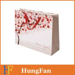 Рекламные пользовательских печатных крафт-бумаги торгового упаковки перевозчика подарочный бумажный мешок с ручками