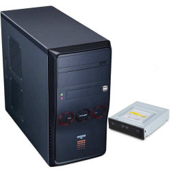 Kundenspezifischer Mini-Itx (3.3L), Doppellayout-Entwurf, Tooless Computer-Kasten mit interner P.S.-Lösung