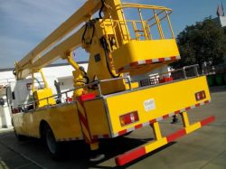 Aeria Sinotruk camiones de plataforma de trabajo de alta operación carretilla