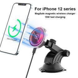 Nouveau chargeur de voiture sans fil Téléphone mobile sans fil de l'aimant de chargeur pour iPhone 12 15 W Magsafe chargeur voiture sans fil Stents magnétique