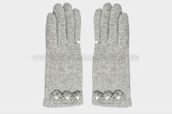 최신 판매 숙녀 '겨울 형식 모직은 고품질 및 알맞은 가격으로 주문을 받아서 만들어진 손목 진주 꽃 Decoratio 접촉 스크린으로 데운다