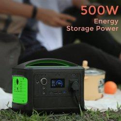 500 W de puissance d'urgence 14,8 V 38,4Ah Station d'alimentation portable de sauvegarde en ligne Source d'alimentation du générateur solaire Alimentation couleur OEM/ODM multiples