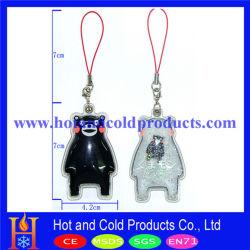 Cheio de líquido pendente de PVC e porta-chaves, Keyring