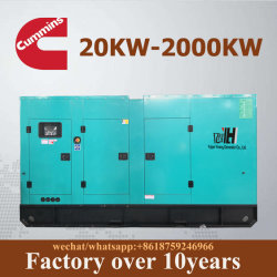 Cummins Engine를 가진 더 적은 발전소 고정되는 전기 디젤 교류 발전기에 연료를 공급하십시오