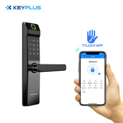 Sécurité électronique Keyplus Smart Application Bluetooth WiFi Code numérique carte IC serrure de porte d'empreintes digitales biométriques pour la maison