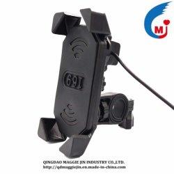 حامل الهاتف المحمول لدراجة بخارية هاتف محمول شاحن USB عالمي شحن القوس
