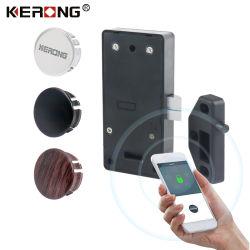 KERONG RFID Sem Chave mais recente painel do leitor de cartão inteligente oculto a montagem embutida da fechadura eléctrica de armário de Bluetooth para ginásio Locker