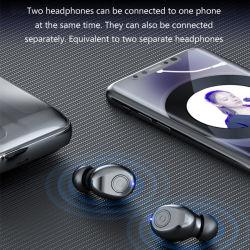 国境を越える新しいデジタル表示装置のTwsの無線ヘッドセット5.0二重呼出し力の表示はヘッドセットF9を遊ばす