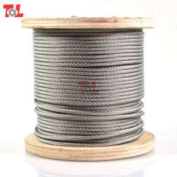 precio de fábrica de alambre de acero inoxidable de 6mm Cuerda 7*7