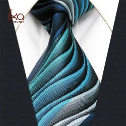 Commerce de gros de l'IKA 100% soie tissée Jacquard Mens Neck Tie avec votre propre Logo