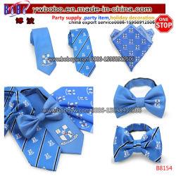 Custom cravate en soie Cravate en polyester de gros de l'école Tie Neckwear tricoté écharpe de l'école Bow Tie (B8154)