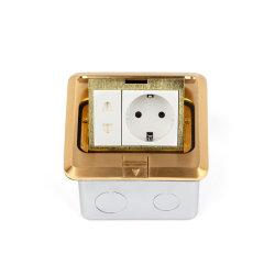 유형 지면 소켓 상자 세륨 증명서 DCT-628/GB가 금관 악기 합금에 의하여 갑자기 나타난다