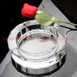 Zigarre-Aschenbecher-achteckiger Kristallaschenbecher für Tisch-Büro-Geschäfts-Geschenk