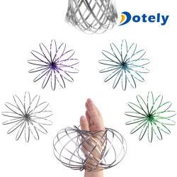 Fidget Spinner drôle en métal anti-stress de la cinétique de printemps Jouet de débit