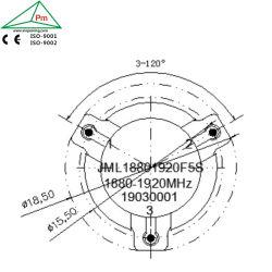 Hohe Leistung Waveguide Broadband Ferrite SMT Connection HF Circulator für Transportation und Broadcast Frequency 1880-1920 Gigahertz