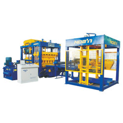 Cenizas automática de pavimento de hormigón de enclavamiento de bloque de máquina de fabricación de ladrillos huecos de la línea de producción9-15 Qt