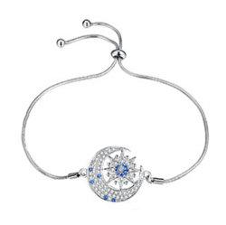 I monili CZ blu dell'argento sterlina del commercio all'ingrosso 925 Moon e Star i monili dei braccialetti per le ragazze