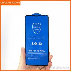 Apple iPhone Xs Max мобильного телефона защитная пленка для экрана закаленное пленки 10d шелк экран двух мощных Full-Screen Стекло закаленное 7/8p