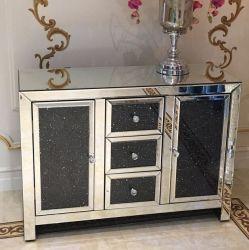 Triturar Black Diamond Sideboard espelhado móveis de espelho de gabinete