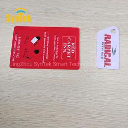 Chiave elettronica di controllo dell'accesso alla serratura della porta dell'hotel con stampa personalizzata