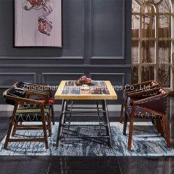 현대 대중음식점 가구는 진한 녹색 의자 및 숫자 Printied 테이블 (SP-CT790)로 놓았다