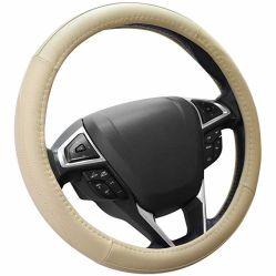 غطاء عجلة قيادة السيارة من الجلد الطبيعي